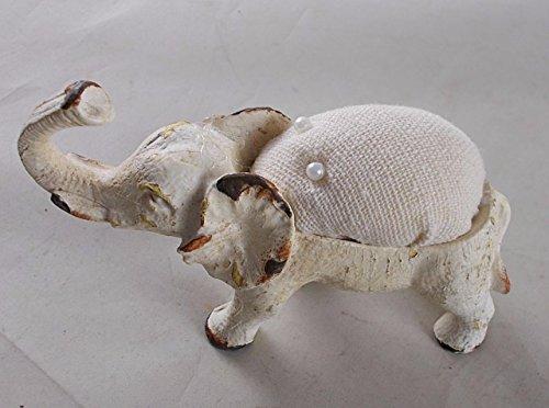 Elephant Pin Cushion w/Trunk Raised