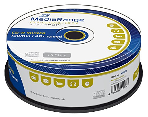 MediaRange MR222 CD-R 900MB (100min. 48x Speed, 25 Stück)