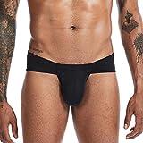 Sexy Männer Briefs Unterwäsche Herren Big Pouch Briefs Unterhosen männlich Höschen Polyester männlich Dessous, schwarz, S.