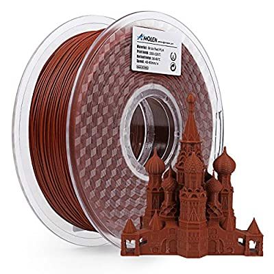AMOLEN 3D Printer Filament, PLA Filament 1.75mm Brick Red Filament, 1KG/2.2lb