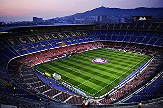 20x13 Inches Wall-Canvas Stickers Poster - Camp Nou Barcelona - Wall Art Prints For Home Decoration