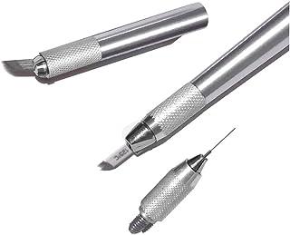 Pinkiou Microblading Pen Eyebrow Tattoo Pens 3 en 1 herramienta de maquillaje permanente de cejas (plata)