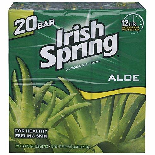 Irish Spring Aloe Bar Soap 375 Ozpack of 20 Bars