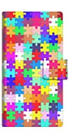 楽天モバイル 楽天ハンド スマホケース 手帳型 カバー 727 カラフルパズル 横開き 品