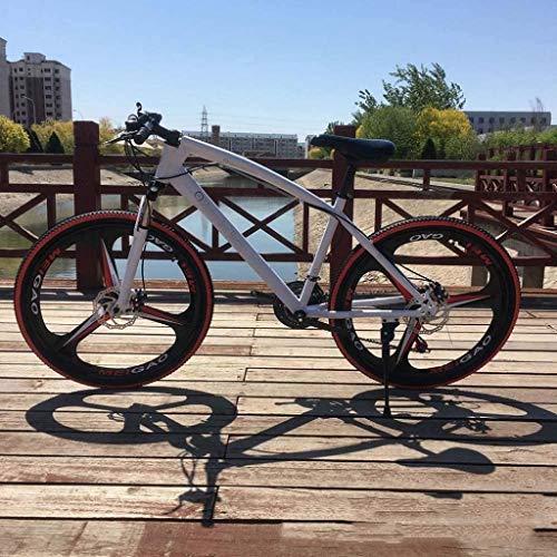 HongLianRiven BMX Fahrrad, 26 Zoll Mountainbikes, High-Carbon Steel Hard Tail-Gebirgsfahrrad, Leicht Fahrrad mit verstellbarem Sitz, Doppelscheibenbremse 6-27 (Color : K)
