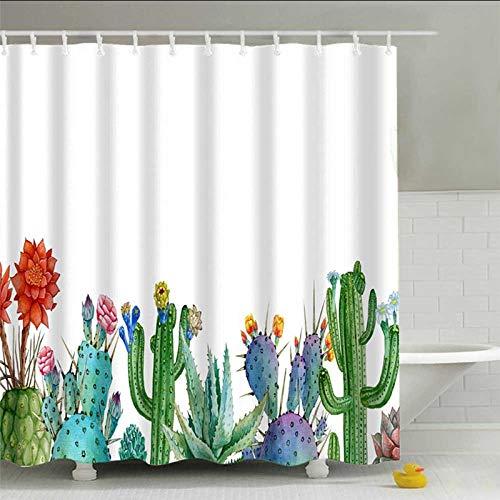 SMNHSRXH bedrukt douchegordijn, waterdicht, polyesterstof, wasbaar, decoratie voor de badkamer, met 12 haken tegen schimmel