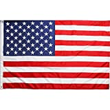 DLORY American Flag 4x6 ft Light Weight Polyester UV Fade Resistant US Flag 2 Brass Grommets Outdoor Indoor Printing 4x6 Foot USA Flag