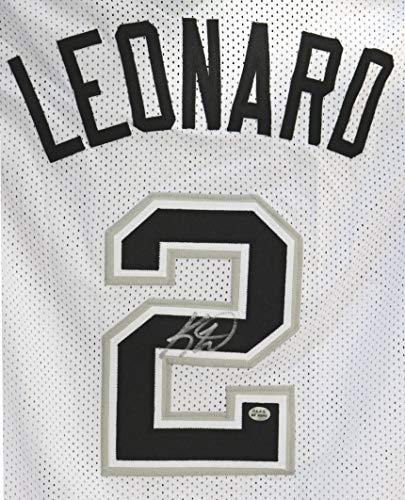 Kawhi Leonard San Antonio Spurs Signed Autographed White #2 Custom Jersey PAAS COA