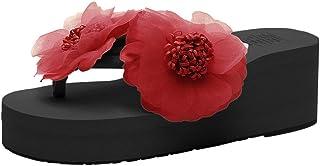 【Feteso サンダル】 スリッパ レディース 快適 花 美脚 滑りにくい おしゃれ 着心地よい ファッション 春夏秋 歩きやすい Women Sandal 人気 色々な種類