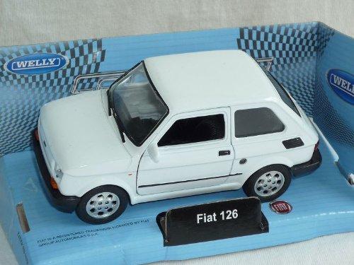 Welly FIAT 126 Weiss 1972-2000 Polski FIAT 126p Ca 1/43 1/36-1/46 Modellauto Modell Auto