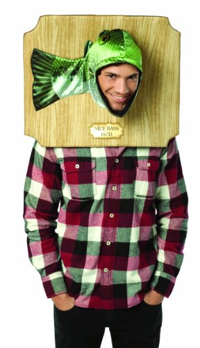 Rasta Imposta Nice Bass Trophy Costume, Green, One Size