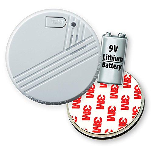 5X Nemaxx FL10 Rauchmelder - hochwertiger Rauchwarnmelder inklusive 10 Jahres Lithium Batterie nach EN 14604 mit sensibler fotoelektrischer Technologie + 5X Nemaxx Magnethalterung