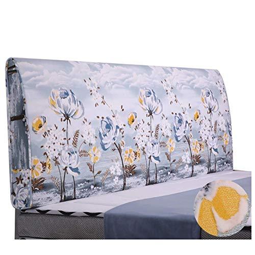 QIANCHENG-Cushion Kopfteil Rückenlehnen Bett Kissen Rückenlehne Großes Taillenkissen Bedruckte Softtasche Haushalt Kissen Waschbar, 7 Farben (Color : #3, Size : 150x60cm)
