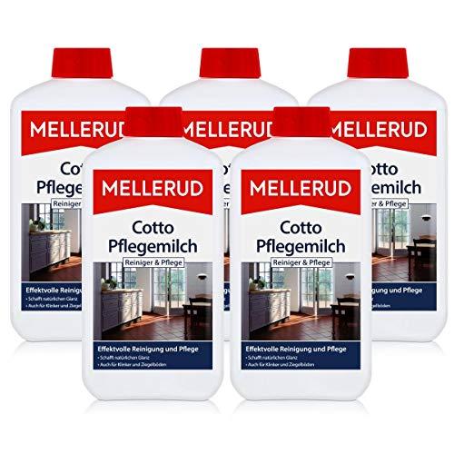 5x Mellerud Cotto Pflegemilch 1L - Schutz und Glanz