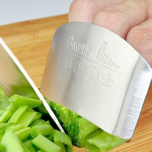 Longsheng Fingerschutz für Küchenhelfer, verhindert Verletzungen (Silber)