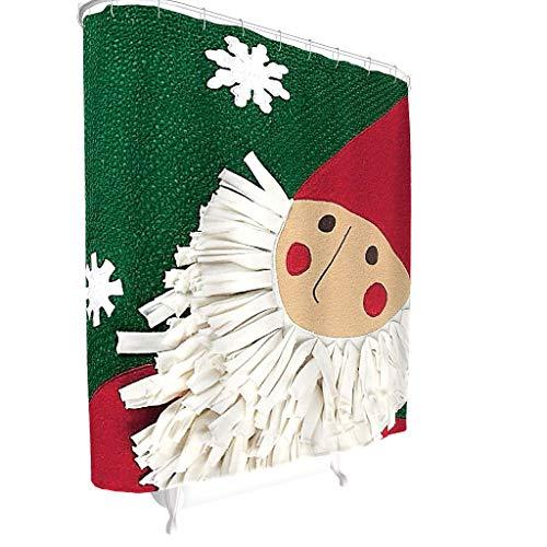 Toomjie leven Kerstmis Print Douche Gordijn voor Badkamer Verwijderbare Liner Bad Gordijn Kerstmis Badkuip gordijn