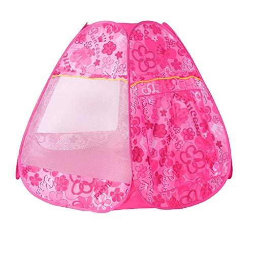 SZQ-Tiendas de juegos Surgen la tienda con las flores rosadas, juego de pelota piscina de peso ligero de apertura rápida Ball Pool bebé - piscina de bolas for interiores y exteriores Niño Tiendas de c