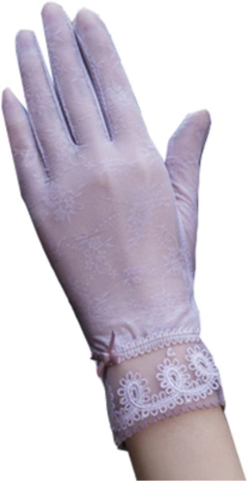 Ai Maria Women's Spring and Summer Sun Protection Gloves Lace Thin Gloves