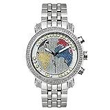 Joe Rodeo - Orologio da uomo con diamante, classico, in argento, 1,75 ctw