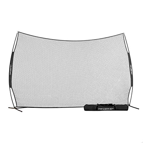 PowerNet 16 Ft x 10 Ft Sports Barrier Net | 160 SqFt of Protection | Safety Backstop | Portable EZ...