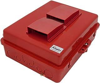 "Altelix Red Vented NEMA Enlcosure 14x11x5 (12"" x 8"" x 4"" Inside Space) Polycarbonate + ABS Weatherproof Safety Red NEMA Enclosure"