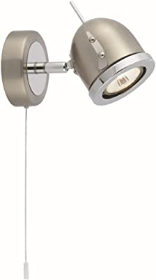 Moderne Wandleuchte in Chrom 1xGU10 bis zu 50 Watt 230V aus Metall & Schlafzimmer Küche Wohnzimmer Esszimmer Lampe Leuchten innen Beleuchtung