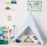 boppi Grande Tente de Jeu tipi en Toile Tente Indienne Portable en Bois pour Enfants, pour...