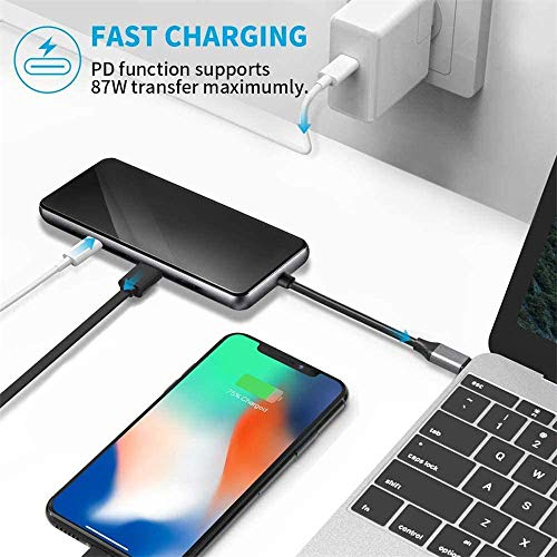 SYIADX USB C Hub,adaptador USB C 12 en 1,pantalla triple con 4K Dual HDMI,VGA,Ethernet,PD,3 puertos USB 3.0,puerto tipo C,audio/micrófono,para MacBook y otros dispositivos USB-C