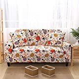 Sofa Bed Covers Furniture Protector 2 seater and 3 seater,Elastic Sofa Cover Elastic Modern Sofa Cover, Four seasons Living Room Couch Cover L-shape Protector B 145-185cm and 190-230cm(2pcs)