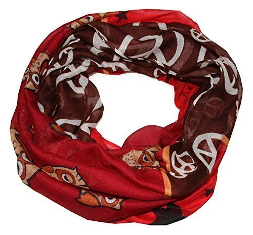 outlet-king -  Sciarpa - Donna Rosso Burdeos X-Large