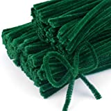 Craft Pipe Cleaners 300 PCS Red Chenille Stem 6MM x 12 Inch Twistable Stems Children's Bendable Sculpting Sticks for Crafts and Arts (300, Green)