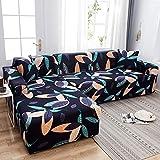 WXQY Funda de sofá con Estampado Floral, Esquina de Asiento, sofá Chaise Longue en Forma de L, Funda de sofá elástica, Funda de sillón A6, 2 plazas