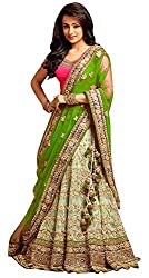 7 Horse selection Womens Net Lehenga Choli (Free Size)
