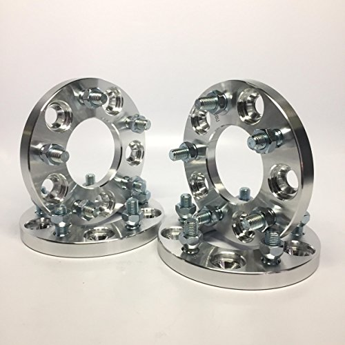 Customadeonly 4 Pieces 0.787' 20mm Wheel Adapters Spacers 5x100 to 5x130 (Change Bolt Pattern) 12x1.5 Studs 57.1mm Center Bore