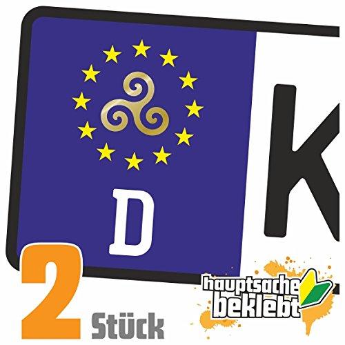 Triskele - Triskel Kennzeichen Aufkleber Sticker Nummernschild - IN 15 FARBEN