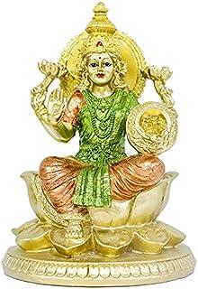 Hindu Goddess Lakshmi Lotus Sculpture - Hinduism Religious Large Laxmi Statue for Home Puja Diwali Gifts Decor - Indian Te...
