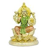 Hindu Goddess Lord Lakshmi Statue - Indian Large Laxmi Statue Figurine Home Office Mandir Temple Puja Decor India Murti Spiritual Prayer Diwali Pooja Altar Shine Kit Meditation Zen Yoga Room Buddha