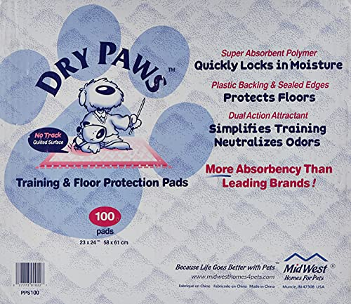MidWest Dry Paws Training and Floor Protection Pads, 100-Count