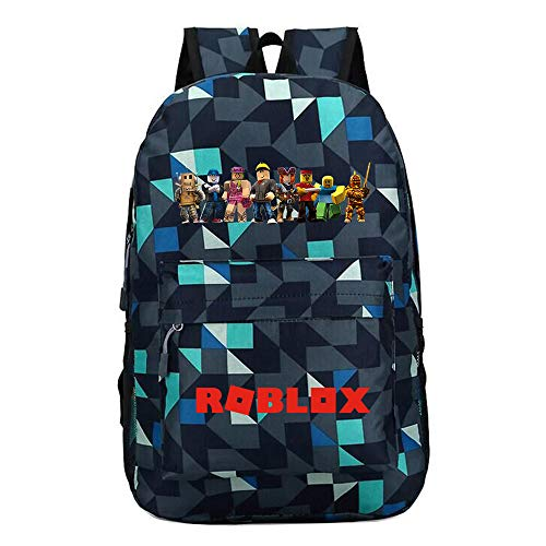 Unisex Roblox Casual Backpack Trekking Rucksack School Backpack Canvas Backpack for Women and Men