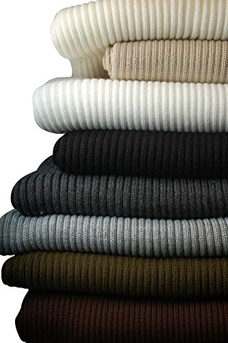 RIBBING FABRIC Stretch Knit Trimming 4 COLOURS Cuffs Garments Chunky Thick