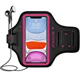 iPhone 11, XR Armband, JEMACHE Water Resistant Gym Running Workouts Arm Band Case