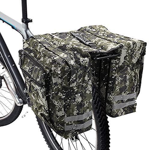 RANJIMA Borsa per Bicicletta,Borse Bici Posteriore Laterali Multifunzionale, Grande capacità Doppia Borsa per Portapacchi,Borsa Bicicletta Impermeabile per Mountain Bike, Bici da Corsa Outdoor