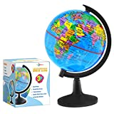 Little Chubby One 6-inch Educational World Globe - Educational and Decorative Piece - Colorful Informative Easy to Read Spinning Globe Ideal for Learning Geography and Perfect Decor for Kids Room