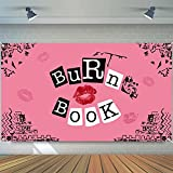 Unbess Mean Girls Party Backdrop Banner Hot Pink Burn Book Photography Background Fabric Posters for Room Aesthetic Teen Girls Sweet Birthday Bachelorette Party Decorations Supplies, 6.6 x 3.8 ft