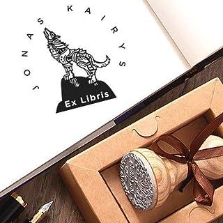 Ex libris Timbri Personalizzati Lupo Solitario Collina Kraft Carta Scatole Regalo