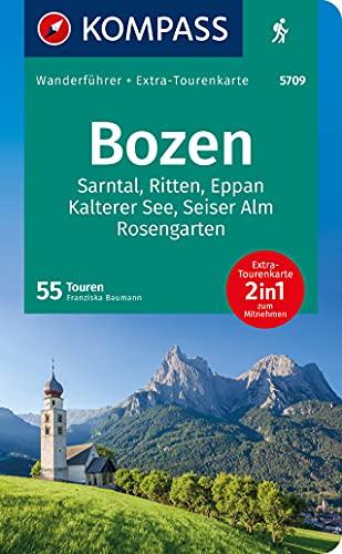 KOMPASS Wanderführer Bozen, Sarntal, Ritten, Eppan, Kalterer See, Seiser Alm, Rosengarten: Wanderführer mit Extra-Tourenkarte 1:45.000, 55 Touren, GPX-Daten zum Download.: 5708