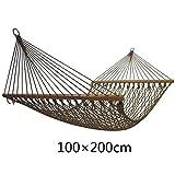 Hamaca, red de nylon Patio al aire libre Balcón Hamaca para adultos de interior (Tamaño : 200 * 100cm)