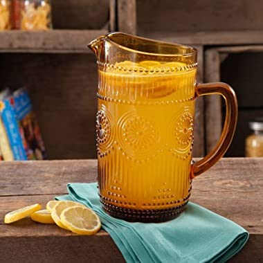 The Pioneer Woman 54-Ounce Amber Glass Pitcher