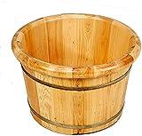 Barril Baño Pie Madera Maciza Regalo de la casa Baños de pie de madera Baños Sólido de madera maciza Masajeador Masajeador Tina de pie Pedicura suave y delicada Barriles Pedicura Bowl Spa Masaje para