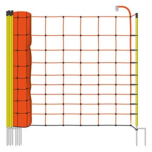 VOSS.farming Filet Mouton 50m H : 108cm Orange 14 piquets Double Pointe clôture électrique